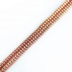 Hematit (rosegold) button szál, 6 mm, kb. 39 cm